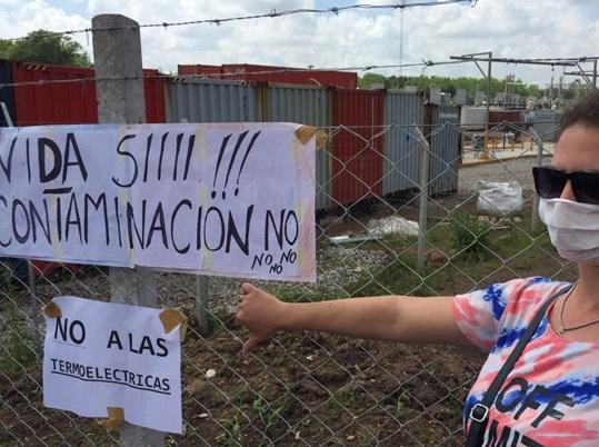 termoeléctricas contra intendente Rosa Araucaria