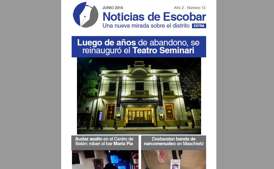 Lea la versión en papel de Noticias de Escobar