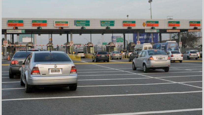 los peajes barreras Autopistas del Sol