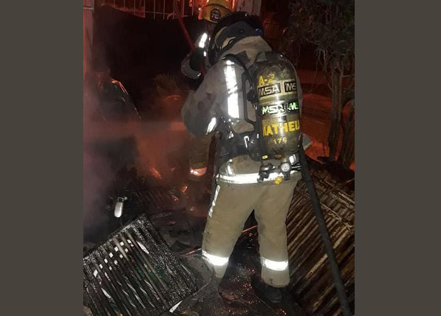 Se incendió una casa en Matheu